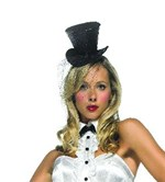 Black or White Mini Top Hat