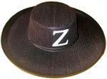 Black Felt Backed Zorro Hat