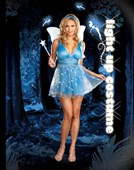Plus Size True Blue Fairy Light Up Costume
