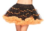 Black & Orange Layered Striped Petticoat
