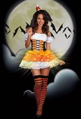 Candy Corn Cutie Witch Costume
