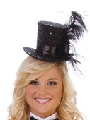 Black Deluxe Sequin Hat