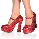 Red Glitter Platform Maryjane Pump