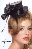 Black Satin Mini Top Hat