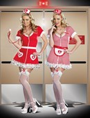 Ivanna Nurse & Candy Striper Costumes - 2 Costumes in One