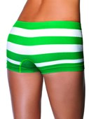 Green & White Lycra Boy Short