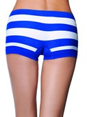 Blue & White Lycra Boy Short