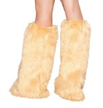 Camel Fluffy Boot Covers