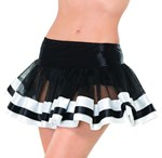 Black & White Satin Trimmed Petticoat