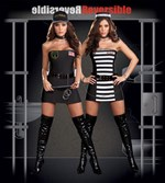 Reversible Prison Guard & Prisoner Costume - 2 Costumes in One