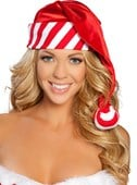 Striped Christmas Santa Hat