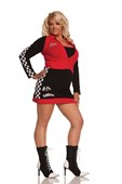 Plus Size High Speed Hottie Car Racer Girl Costume