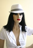 White & Black Gangster Fredora Hat