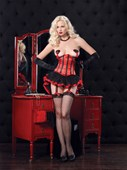 Black & Red Waist Cincher