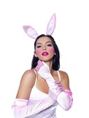 Pink Bunny Ears, Tail & Gloves Kit