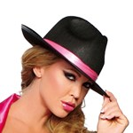 Black & Pink Gangster Hat