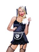 French Maid Apron, Head Band and Duster Kit