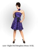 Purple Owl Pin Up Girl Dress
