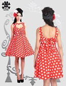 Red & White Hell Bunny Polka Dot Dress