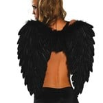 Black Angel Feathered Wings