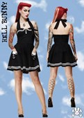 Black Pinup Motley Girl Sailor Dress