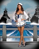 Anchors Away Sailor Girl Costume