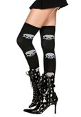 Big Skull Print Thigh Highs