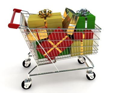 Shopping Cart Holiday Gifts