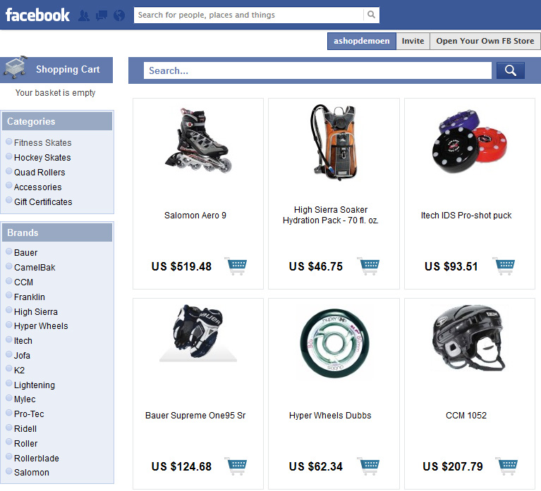 how to find stores on facebook
