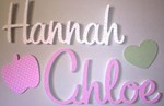 Custom Made Names - Fabric Covered