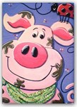 Canvas Print-  Farm Pig