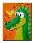 Canvas Print-  Crocodile