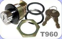 Bauer T960 Eberhard Push Button Style Lock Assembly