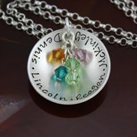 cup of love - sterling silver mother / grandma necklace