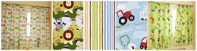 Nursery & childrens curtains Hippins for baby gifts nursery ...