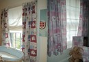 Elephant design nursery curtains