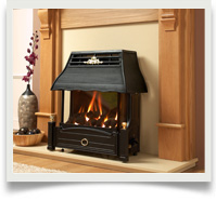 Outset and traditional gas fires