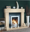 Ashbourne Marfil Fireplace with Granite Back Panel
