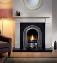 Brompton Agean Limestone Fireplace Package complete with Coronet Cast Insert and Granite Hearth