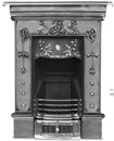 Carron Fireplaces, Small Bella Art Nouveau Cast Iron Combination Fireplace