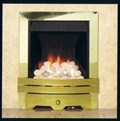 Contemporary Brass Fire Trim