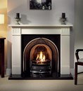 Clarendon Agean Limestone Fireplace Package Complete With Landsdowne Cast