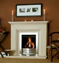 Fireside Fireplaces, Katia Limestone Fireplace
