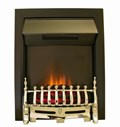 Axon Black and Chrome Electric Fire