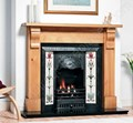 Agnews fireplaces, Aston Cast Iron Tiled Fire Insert
