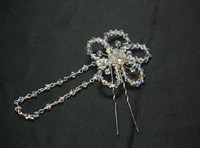 HP0026 - AB Swarovski crystal flower hairpin