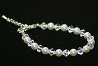 FGB001 - Swarovski pearl and crystal bracelet