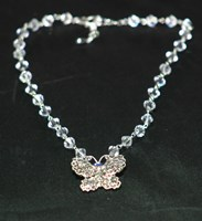 FGN003 - Flower girl butterfly Swarovski necklace