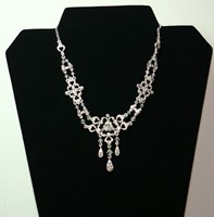 F2692 - Diamonte necklace with diamonte teardrops and swarovski crystals