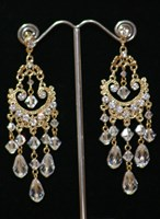 EL1143 - Gold Swarovski chandelier earrings